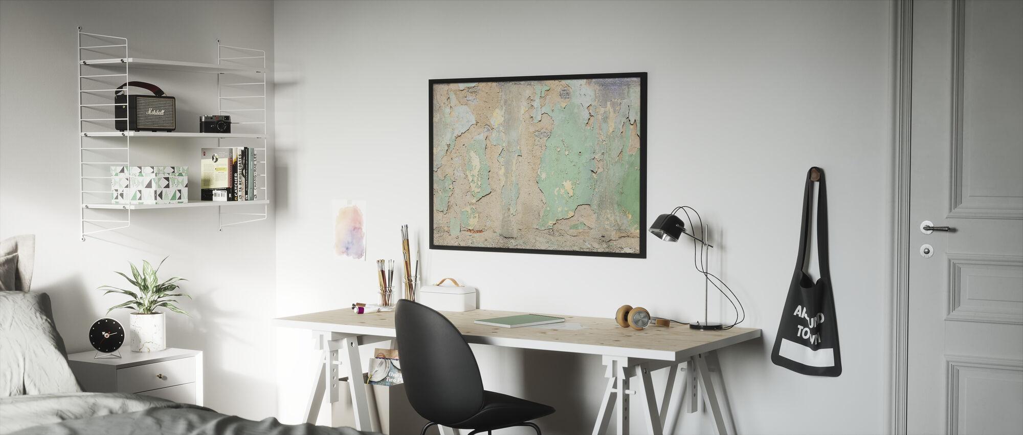 Worned Out Wallpaper - Framed print - Kids Room