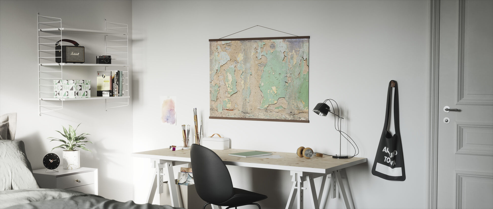 Worned Out Wallpaper - Poster - Office