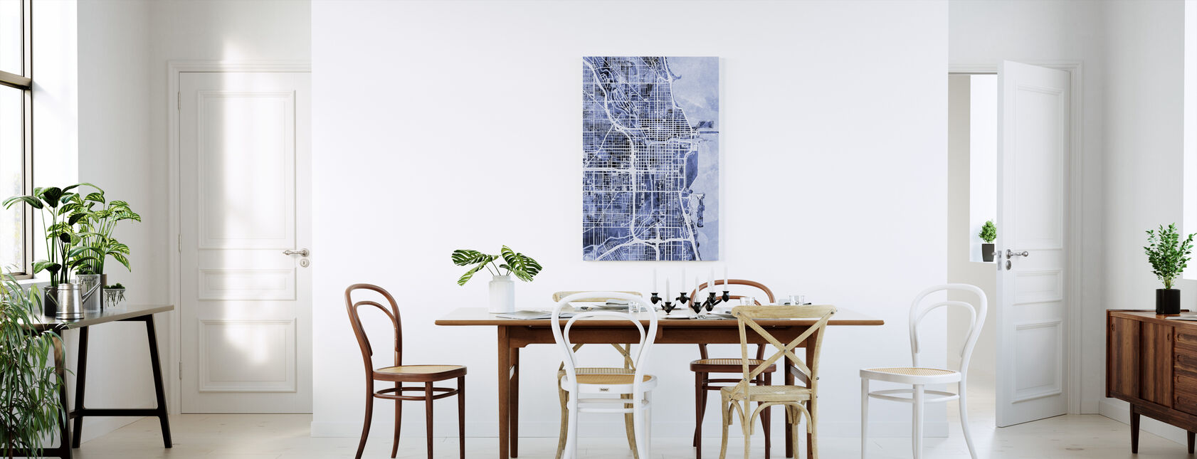 Chicago City Street Map - Canvas print - Kitchen
