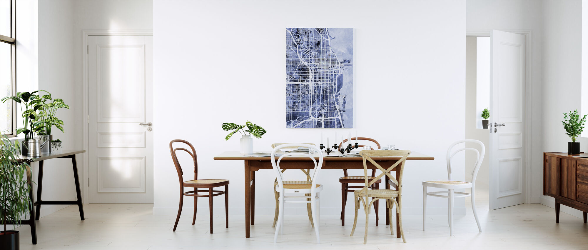 Chicago City Street Map - Canvas print - Kitchen
