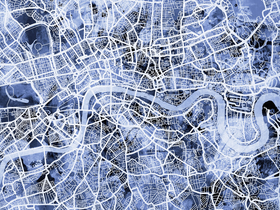 Street Map London Uk.London England Street Map Wall Murals Online Photowall