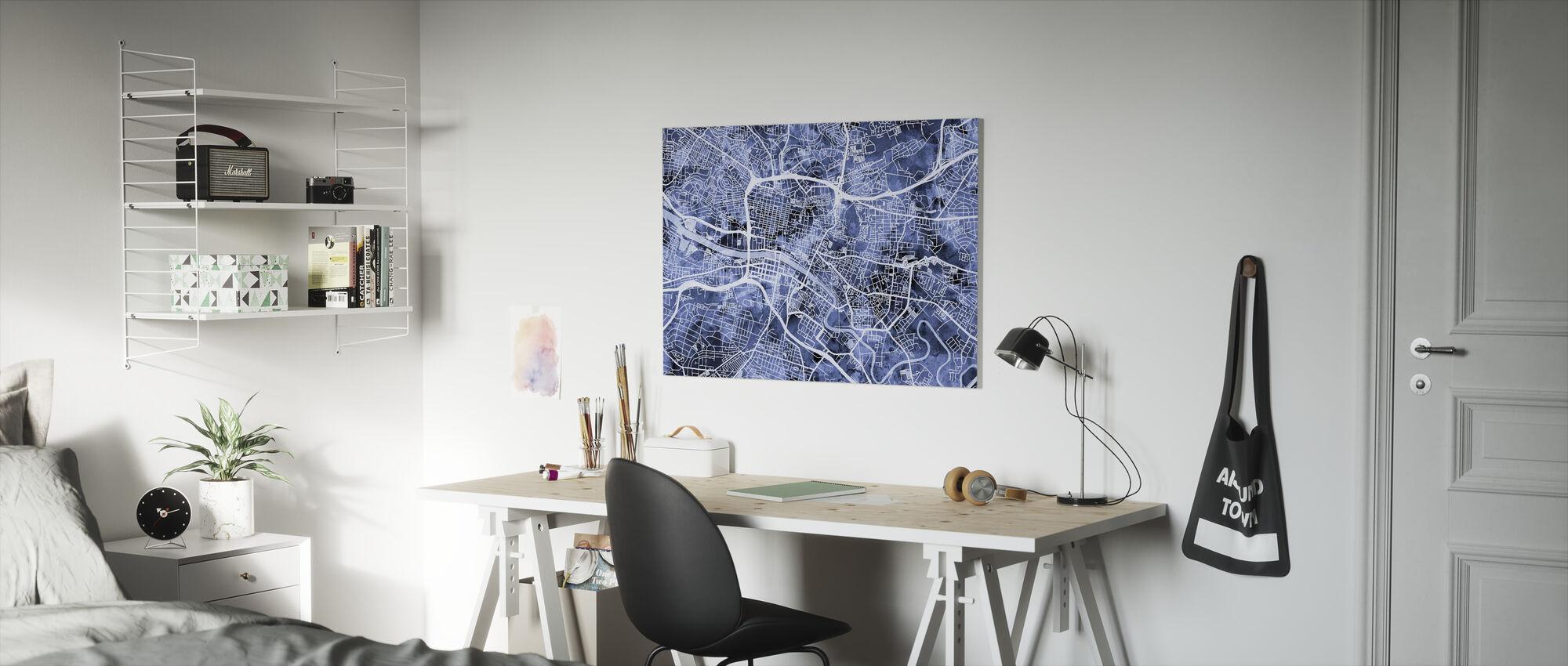 Glasgow Street Map - Canvas print - Kids Room