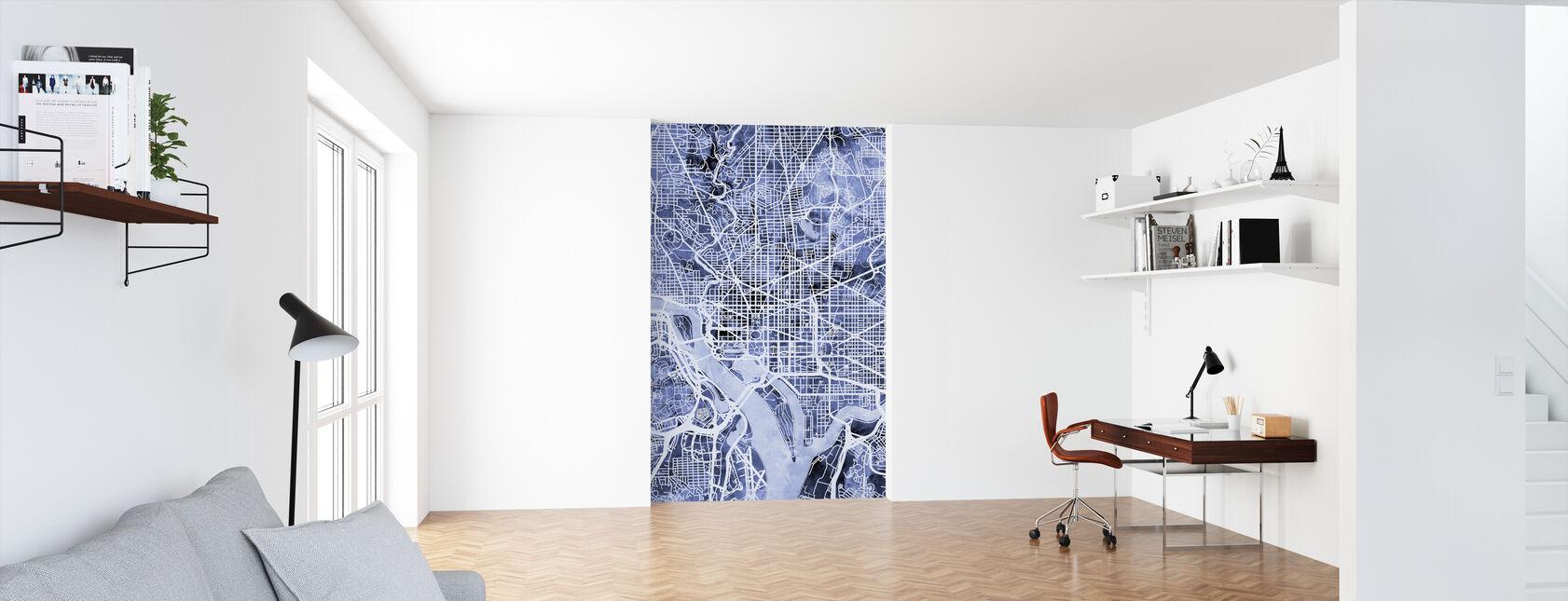 Washington DC Street Map - Wallpaper - Office