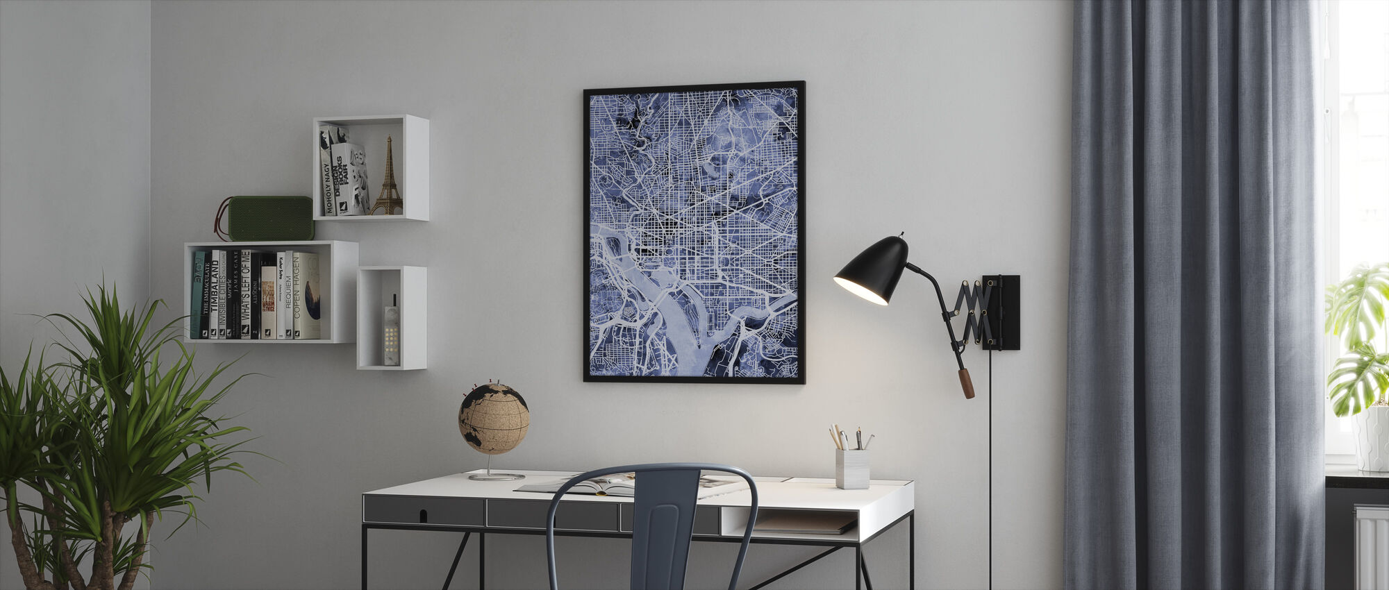 Washington DC Street Map - Framed print - Office
