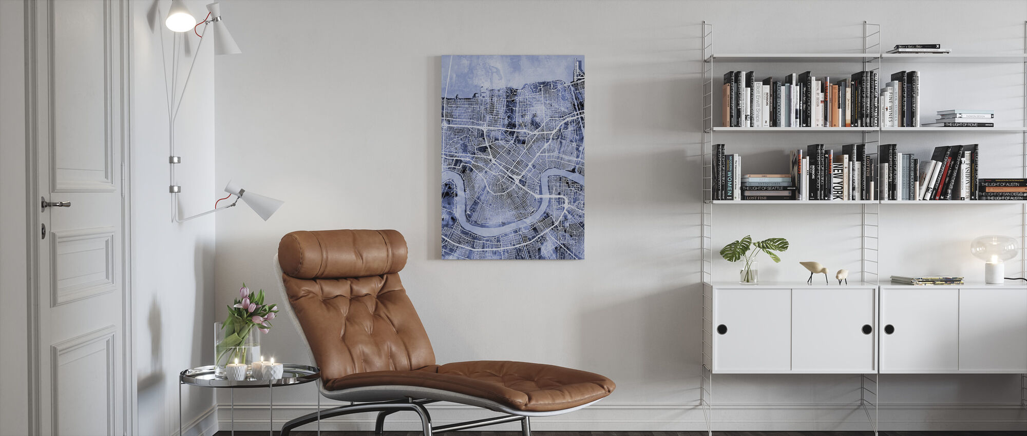 New Orleans Street Map - Canvas print - Living Room