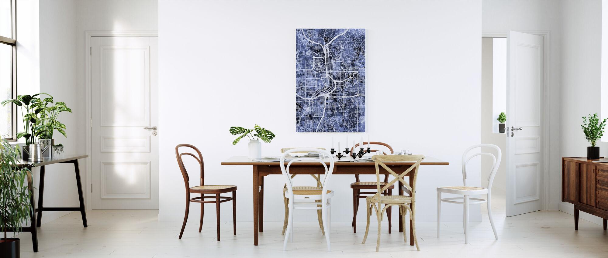 Atlanta Georgia City Map - Canvas print - Kitchen