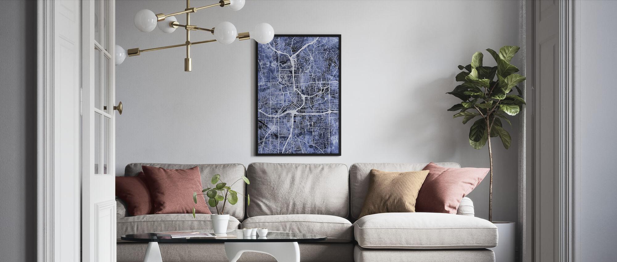 Atlanta Georgia City Map - Framed print - Living Room