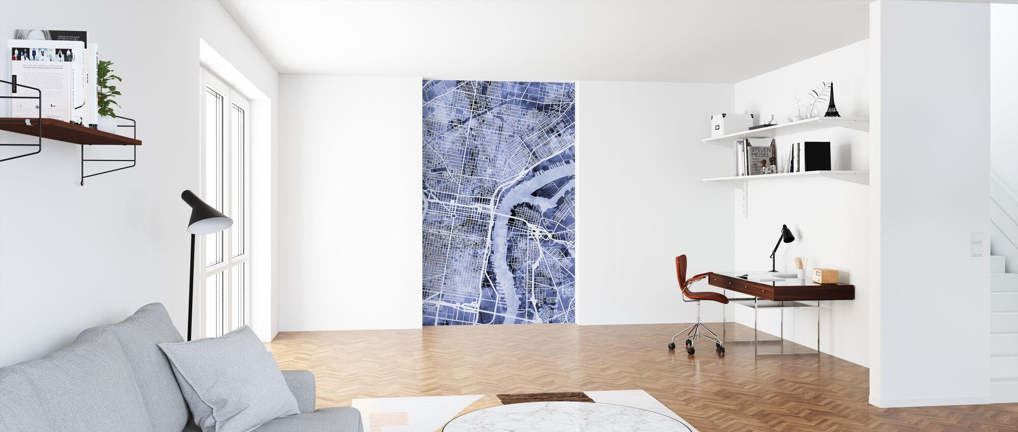 Philadelphia Pennsylvania City Street Map - Wallpaper - Office
