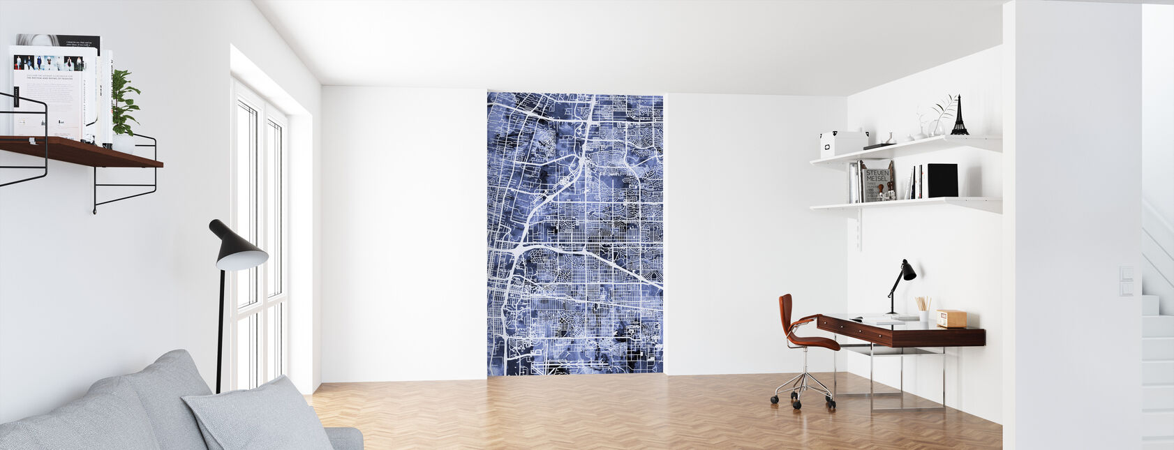 Albuquerque New Mexico City Street Map - Wallpaper - Office