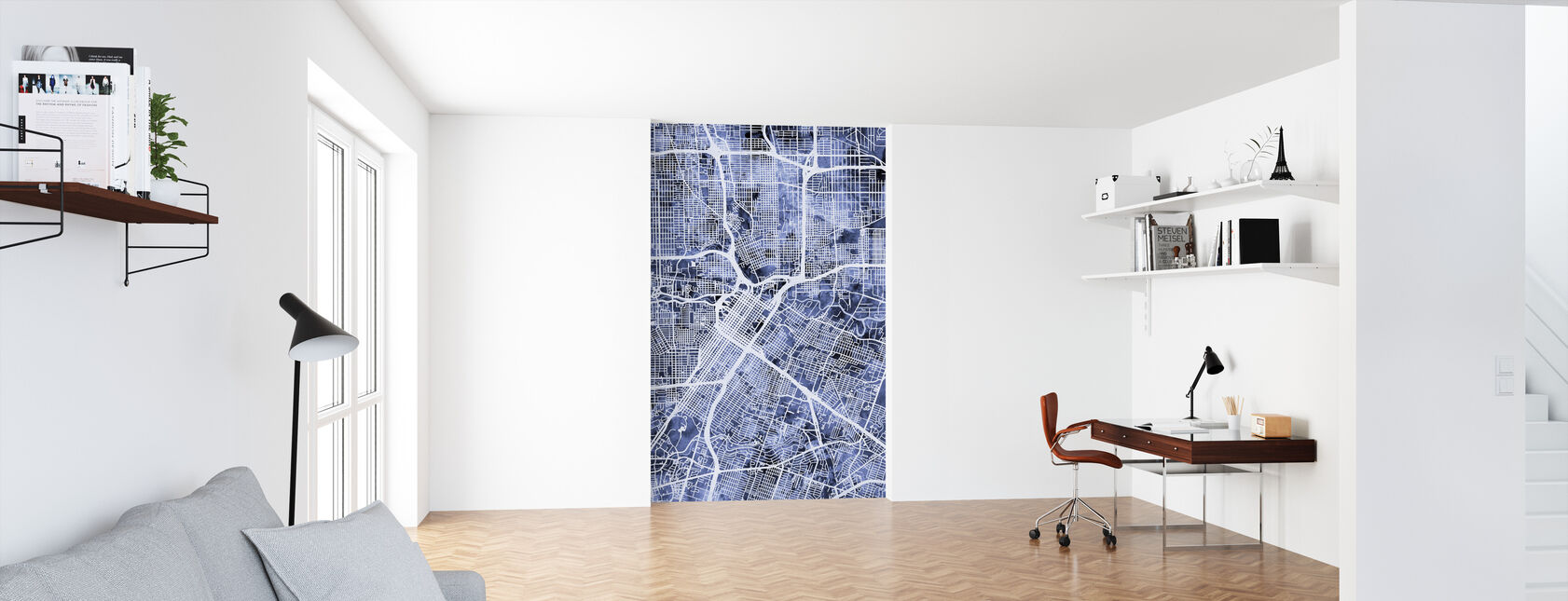 Houston Texas City Street Map - Wallpaper - Office