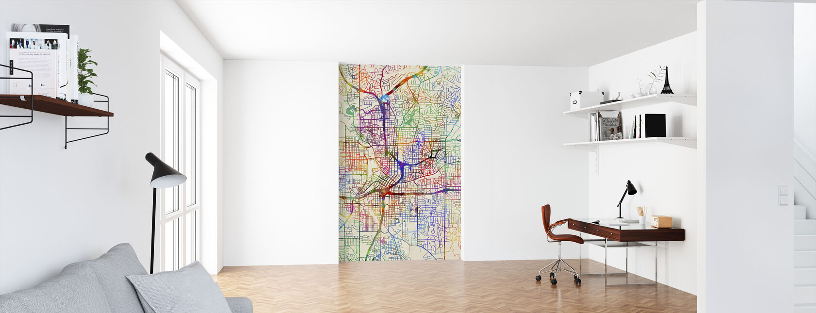 Atlanta Georgia City Map - Wallpaper - Office