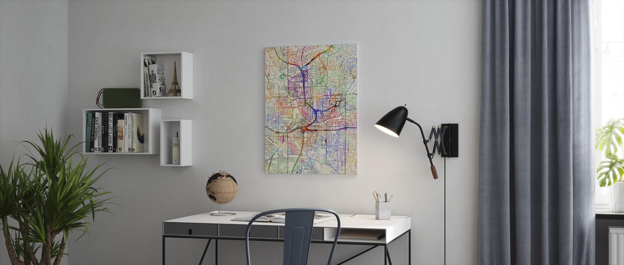 Atlanta Georgia City Map - Canvas print - Office