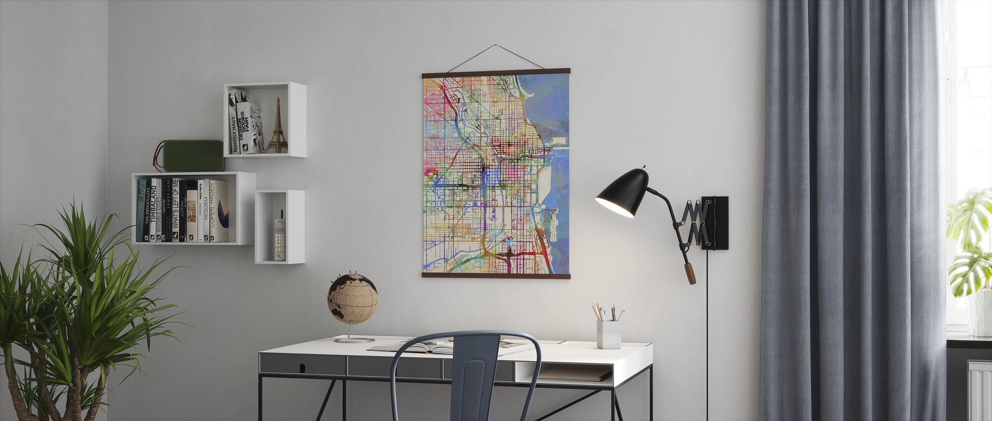 Chicago City Street Map - Poster - Office