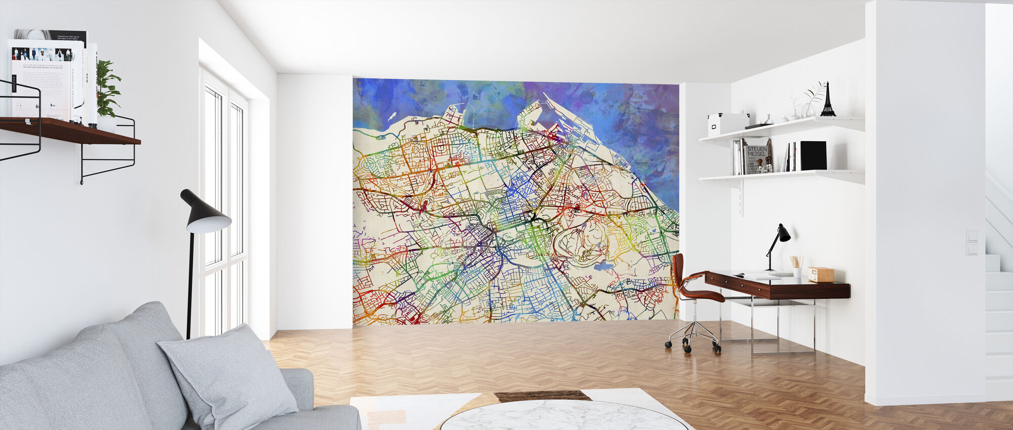 Edinburgh Street Map - Wallpaper - Office