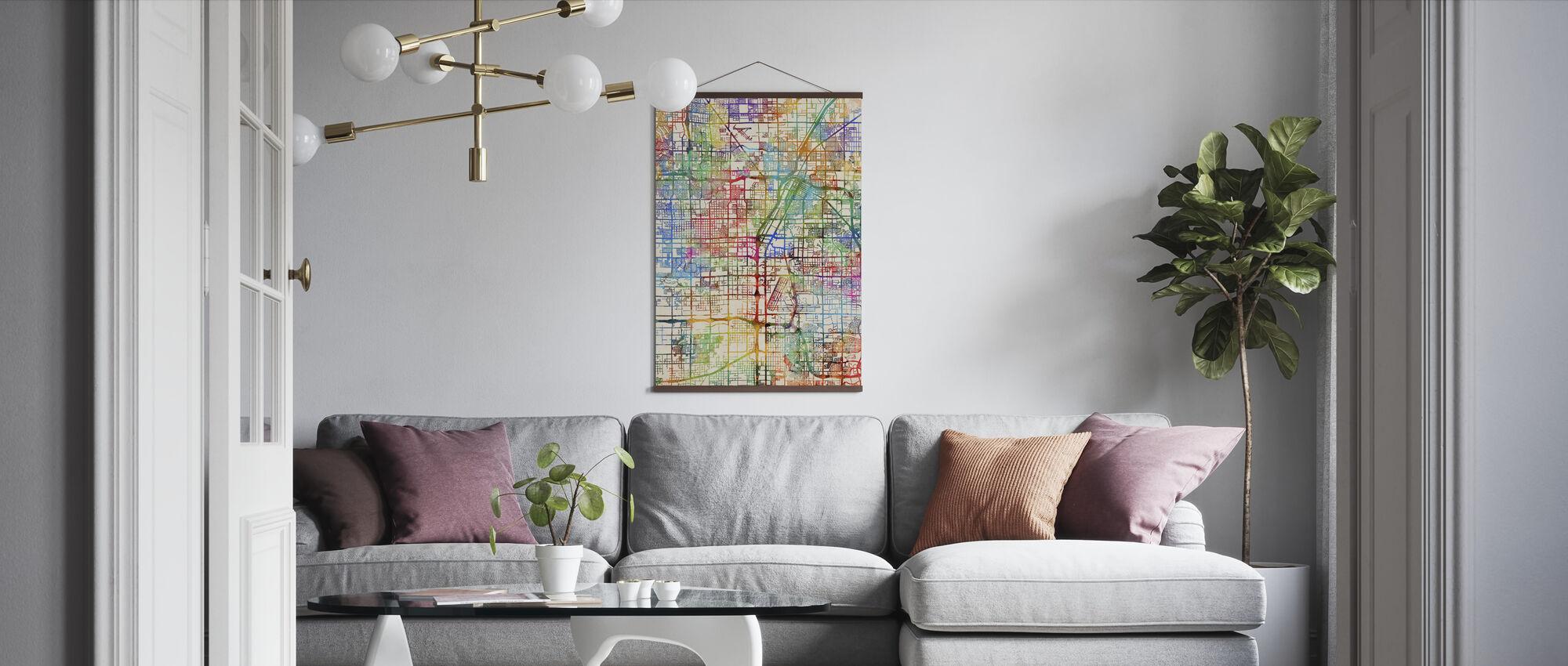 Las Vegas City Street Map - Poster - Living Room
