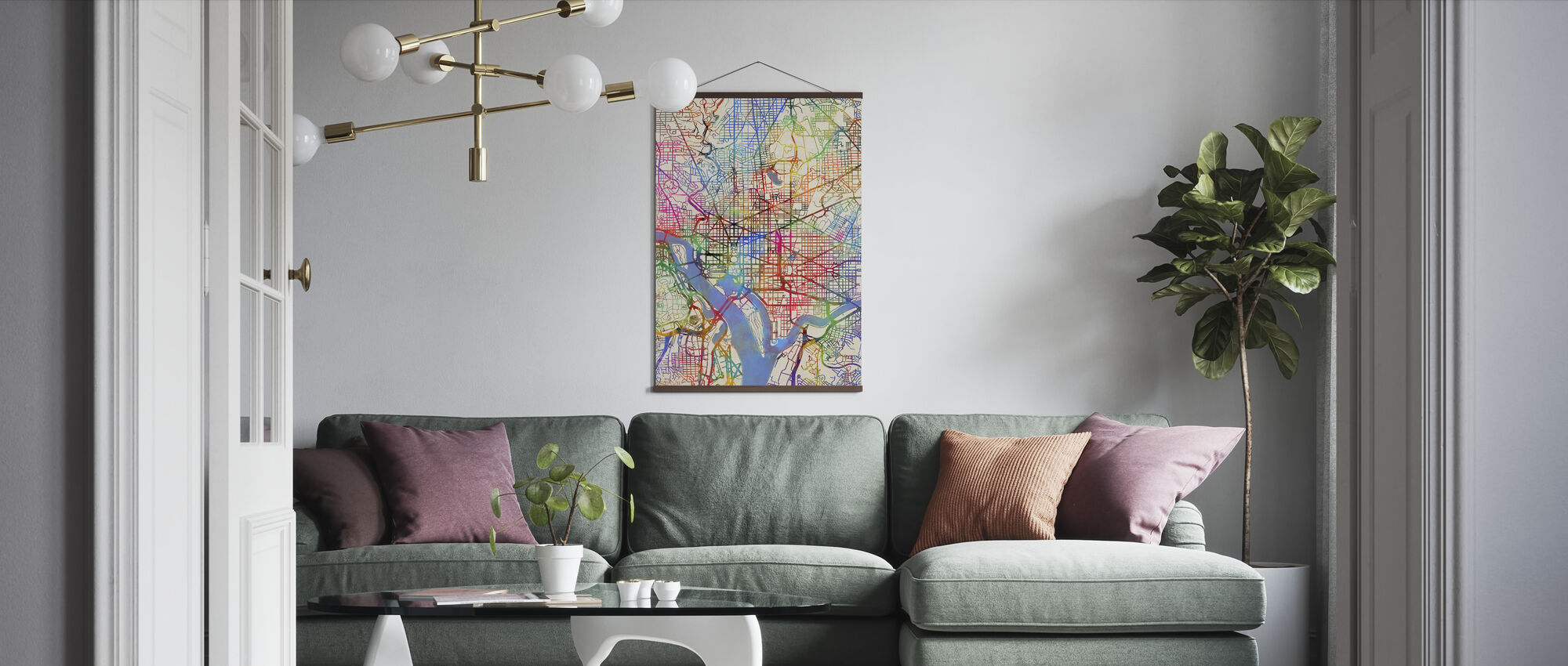 Washington DC Street Map - Poster - Living Room