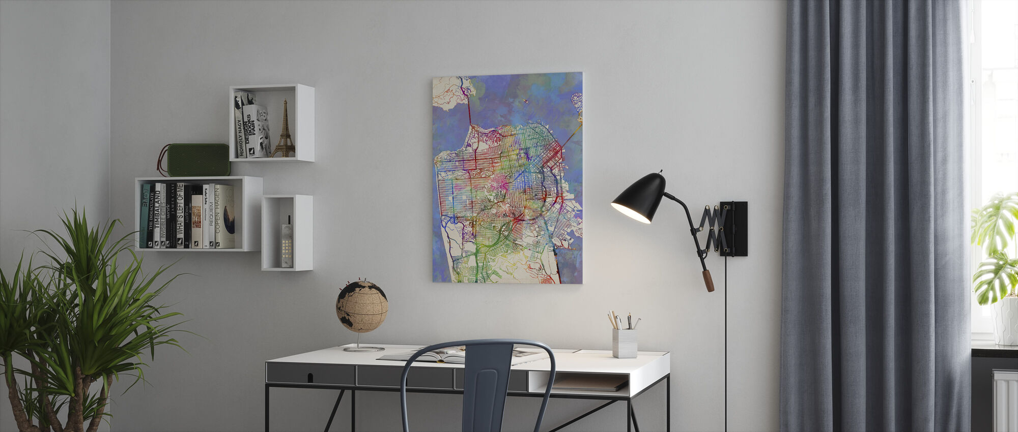 San Francisco City Street Map - Canvas print - Office