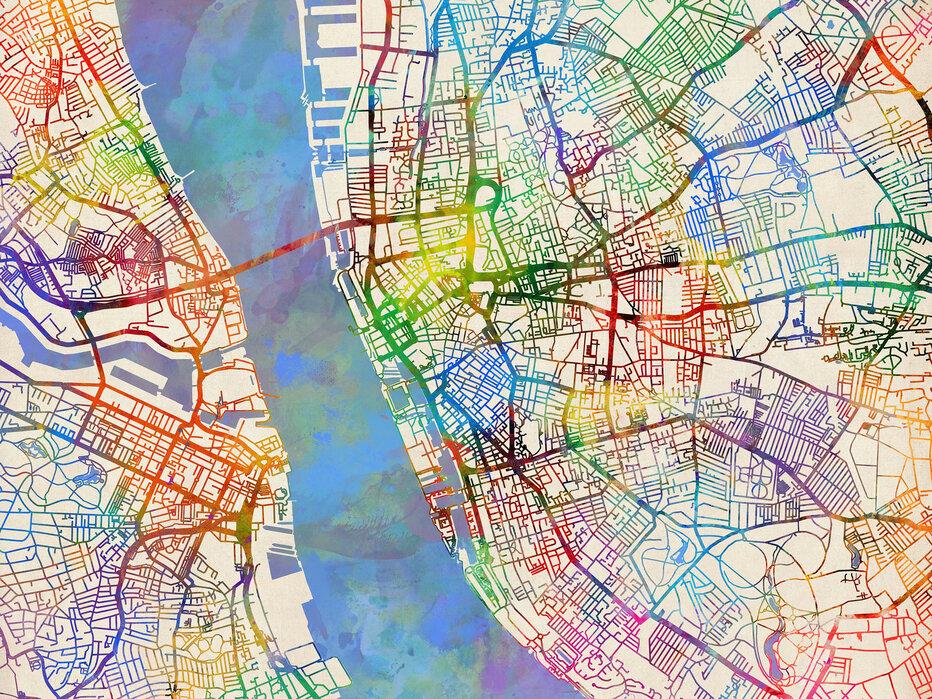 Liverpool England Street Map – Eine Fototapete für jeden ...