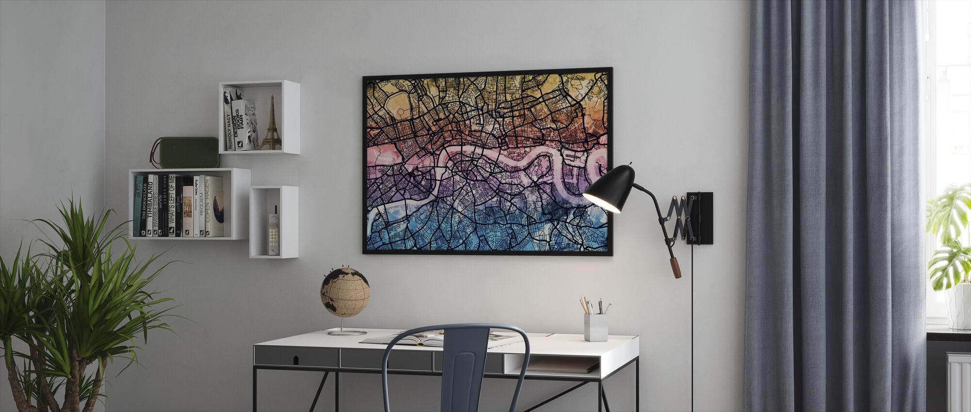 London England Street Kort - Innrammet bilde - Kontor