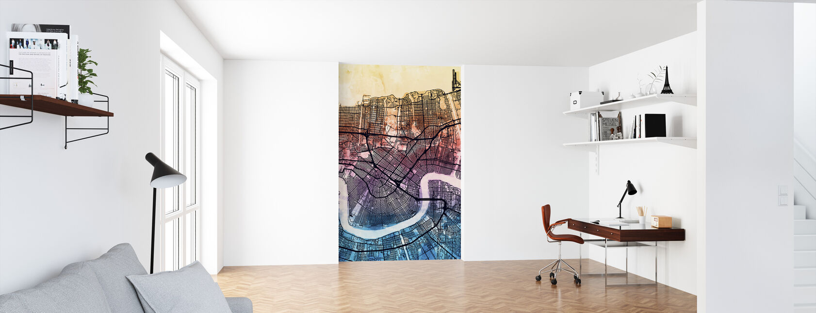 New Orleans Street Map - Wallpaper - Office