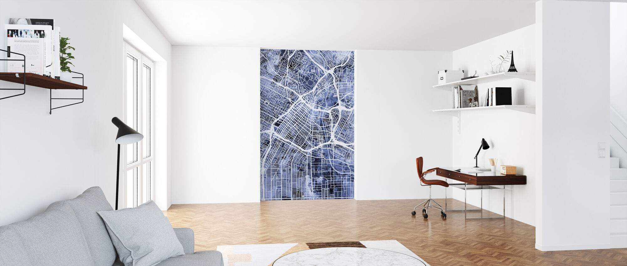 Los Angeles City Street Map - Wallpaper - Office