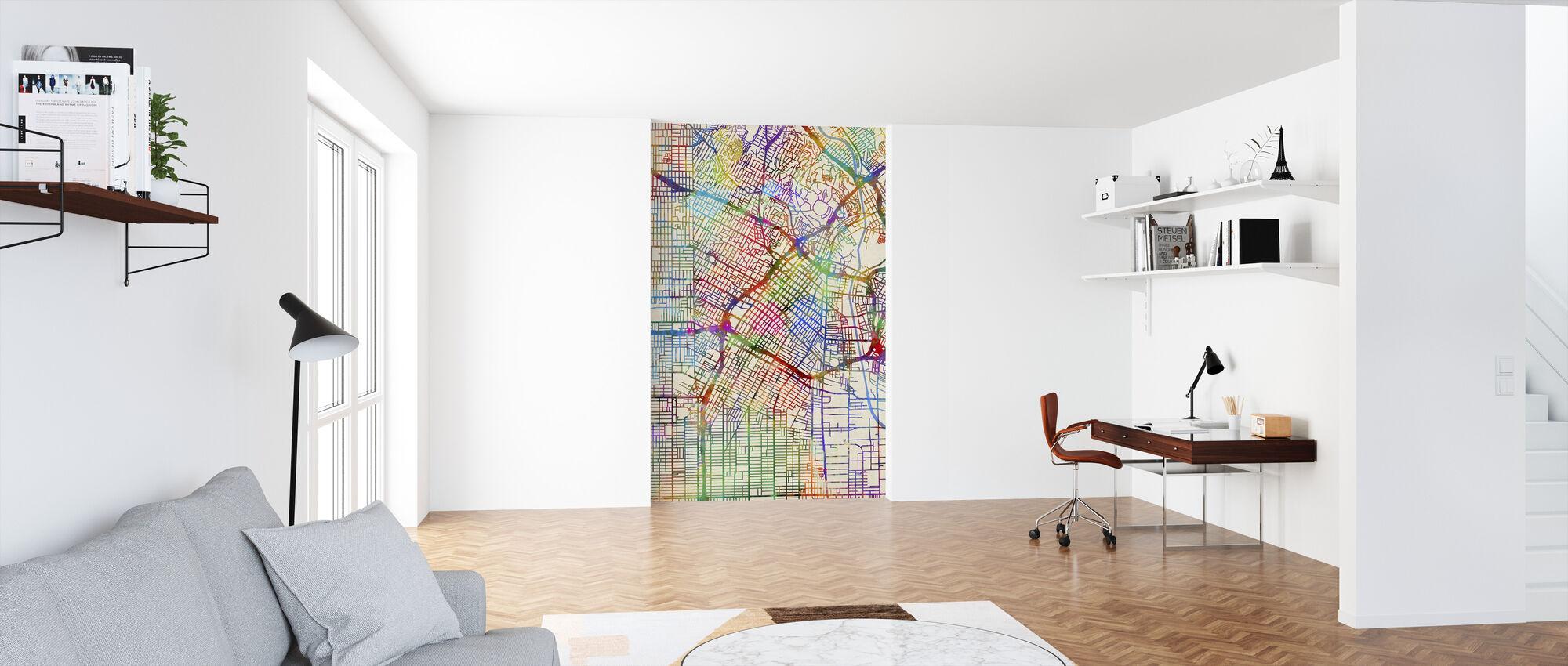 Los Angeles City Street Map - Wallpaper - Office