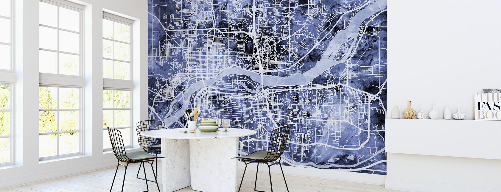 Quad Cities Street Karta - Tapet - Kök