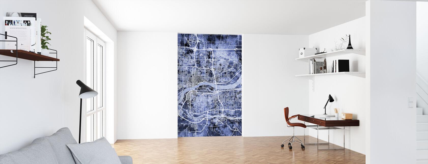 Quad Cities Street Map - Wallpaper - Office