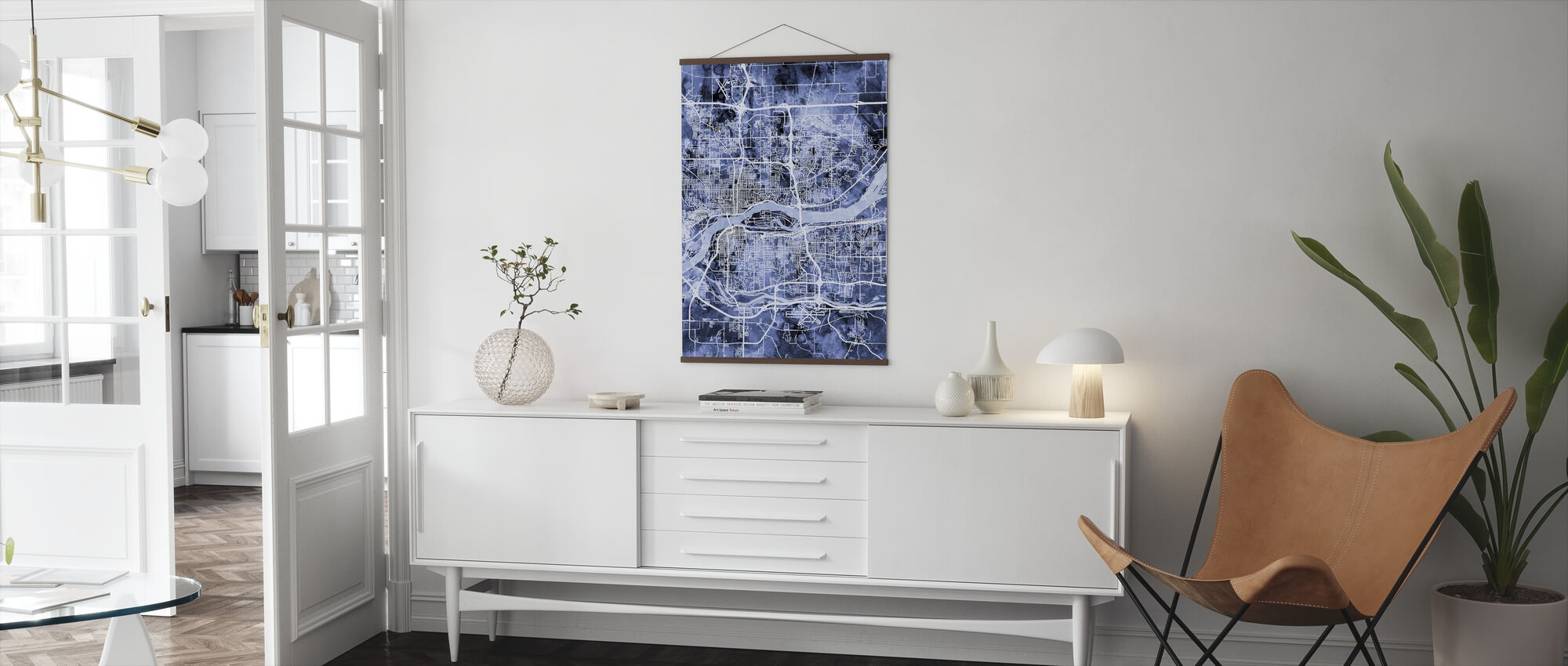 Quad Cities Street Map - Poster - Living Room