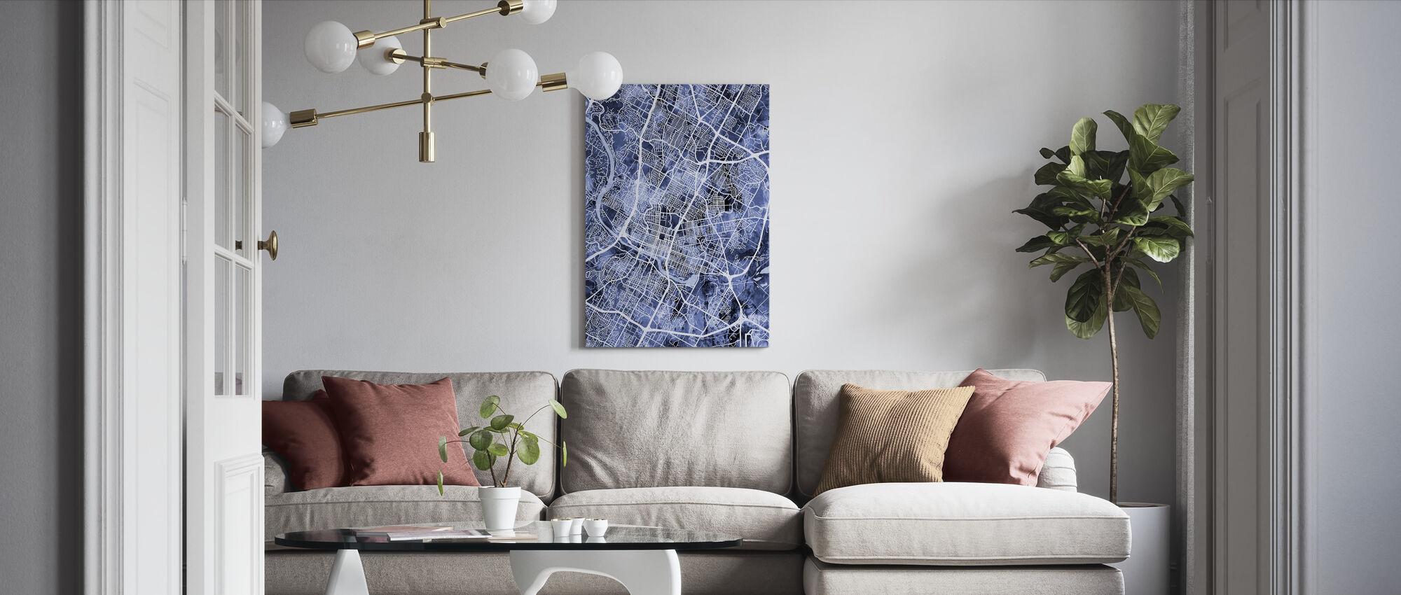 Austin Texas City Map - Canvas print - Living Room