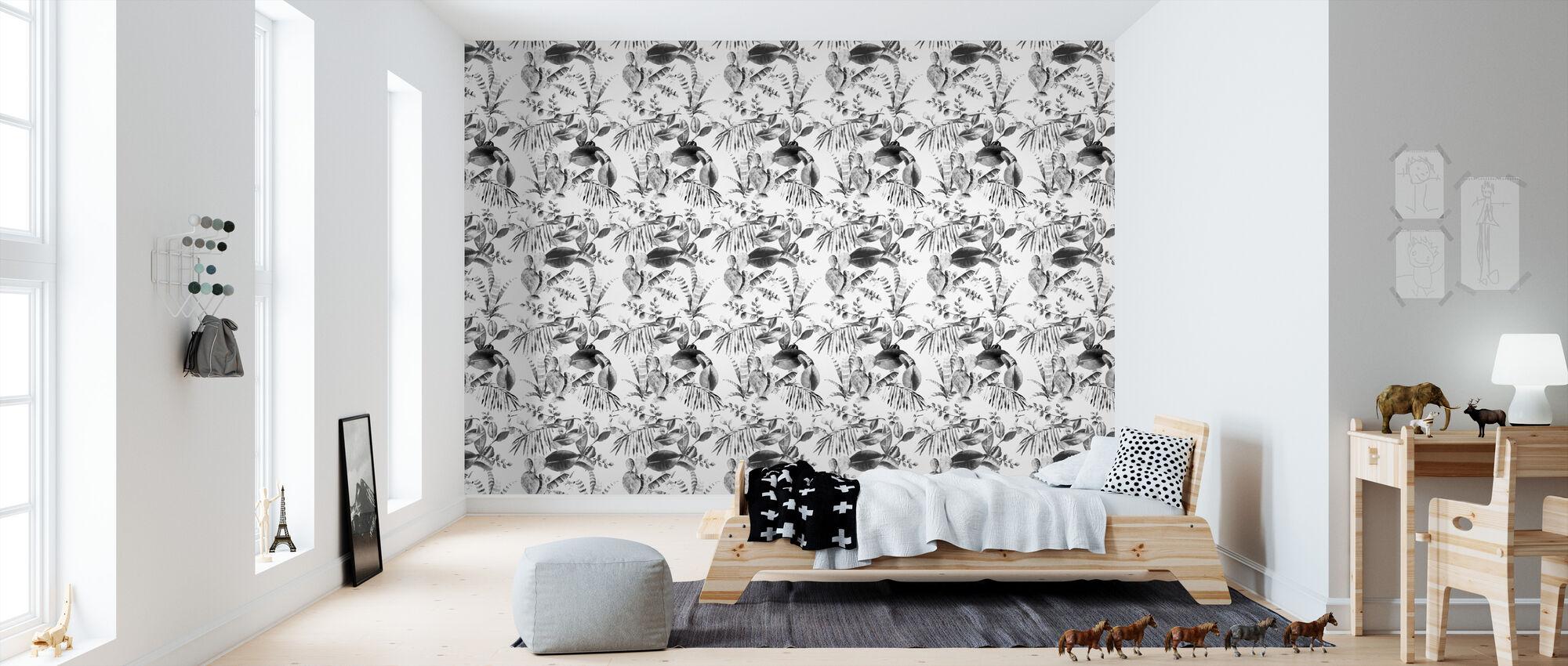 Cactus bw - Wallpaper - Kids Room