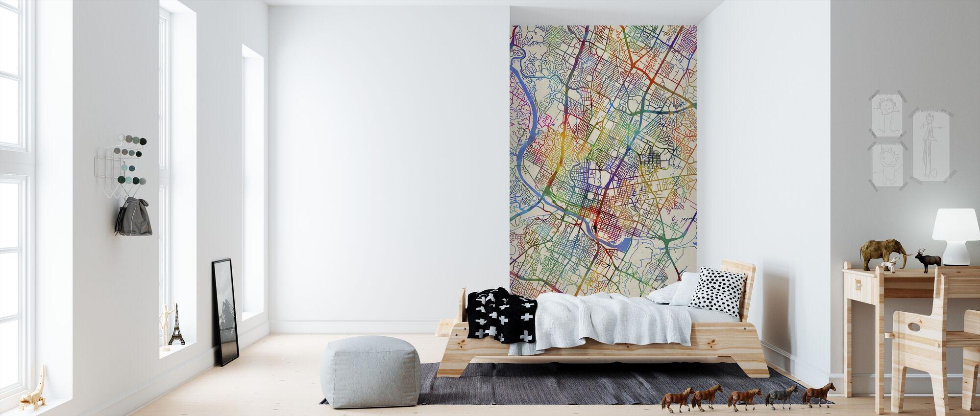 Austin Texas City Map - Wallpaper - Kids Room