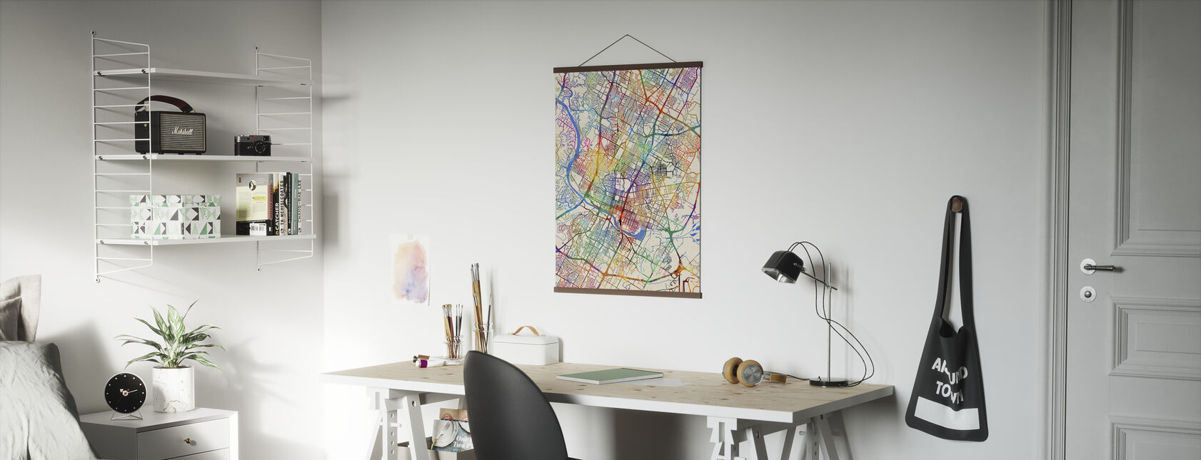 Austin Texas City Map - Poster - Office
