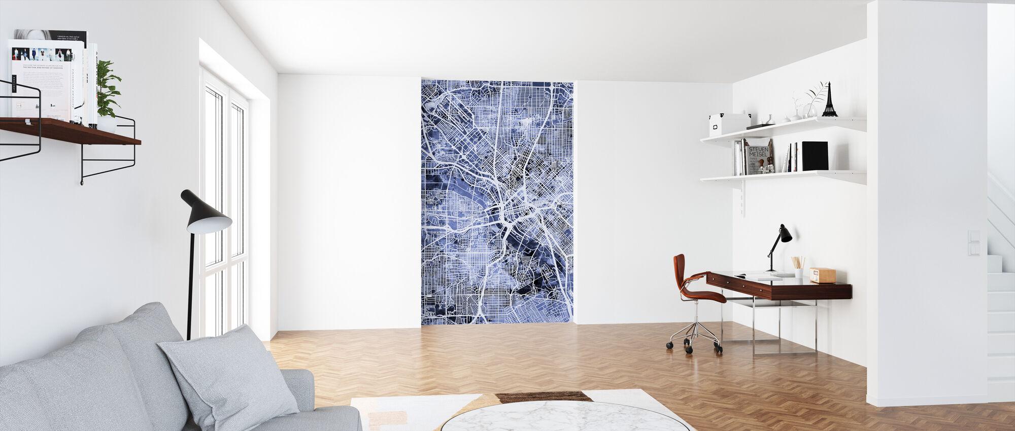 Dallas Texas City Map - Wallpaper - Office