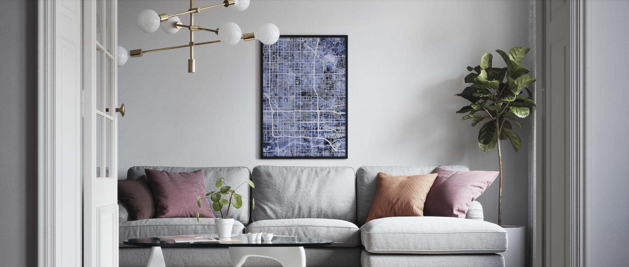 Phoenix Arizona City Map - Framed print - Living Room