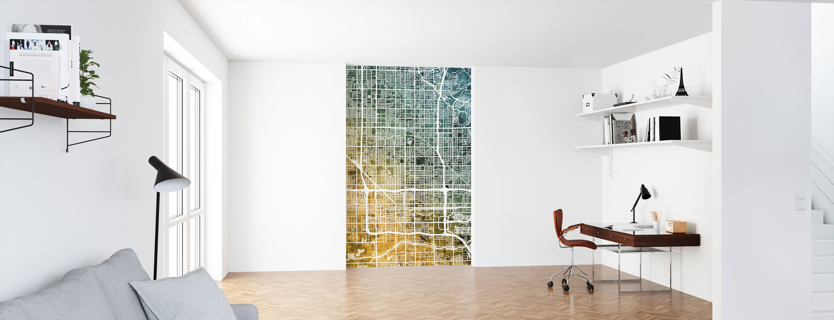 Phoenix Arizona City Map - Wallpaper - Office