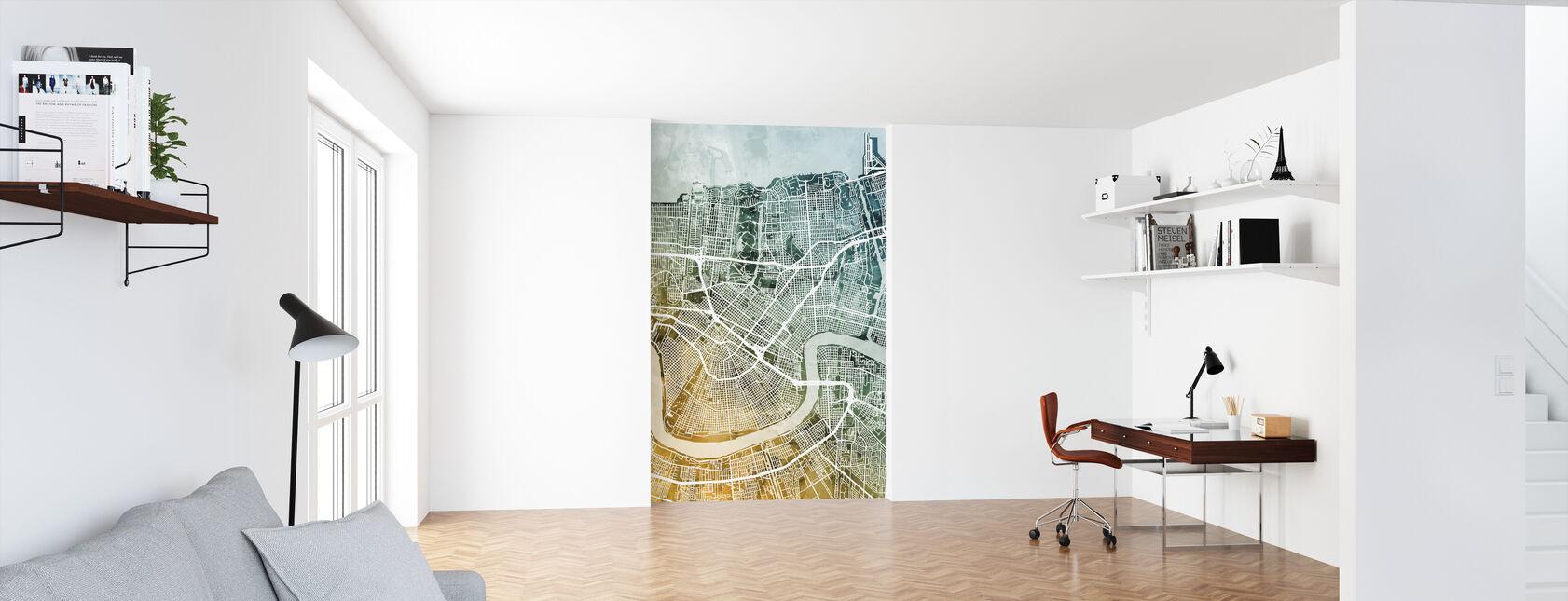 New Orleans City Street Map - Wallpaper - Office