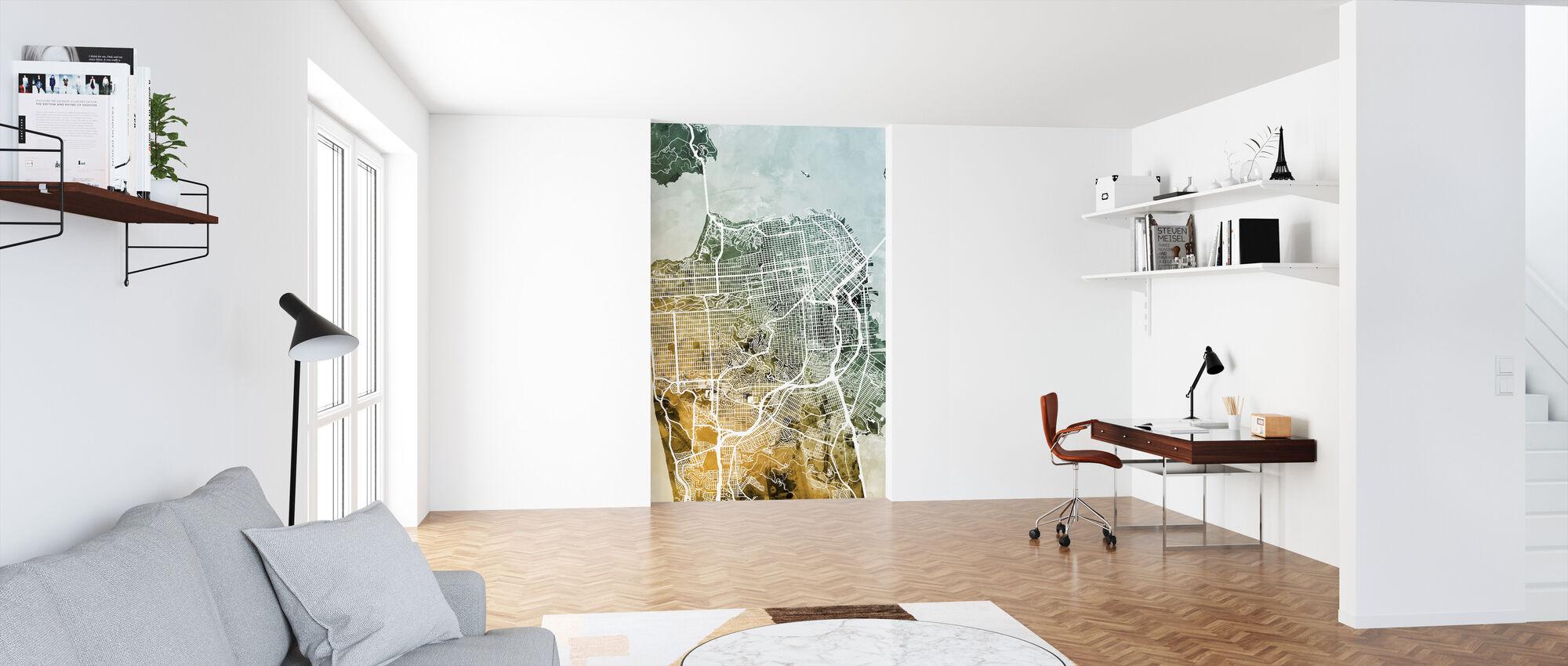 San Francisco City Street Map - Wallpaper - Office
