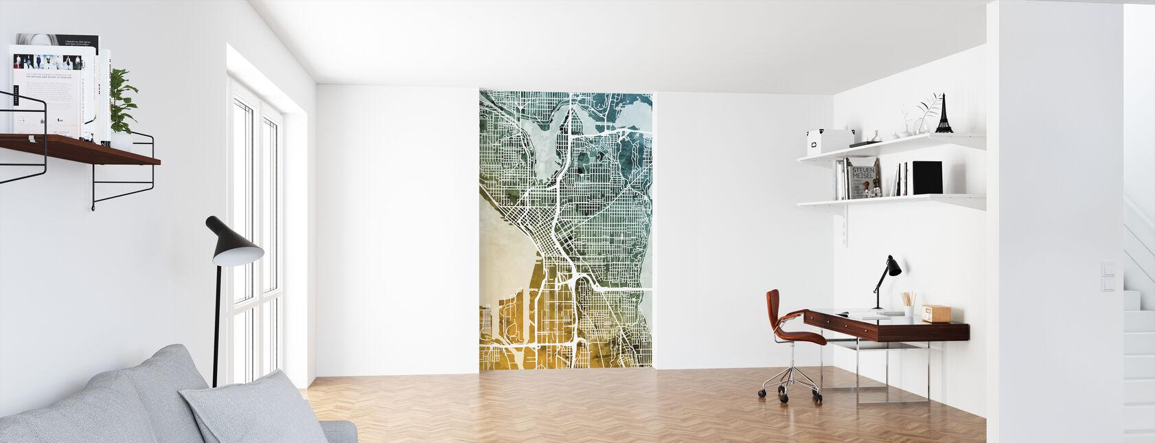 Seattle Washington Street Map - Wallpaper - Office