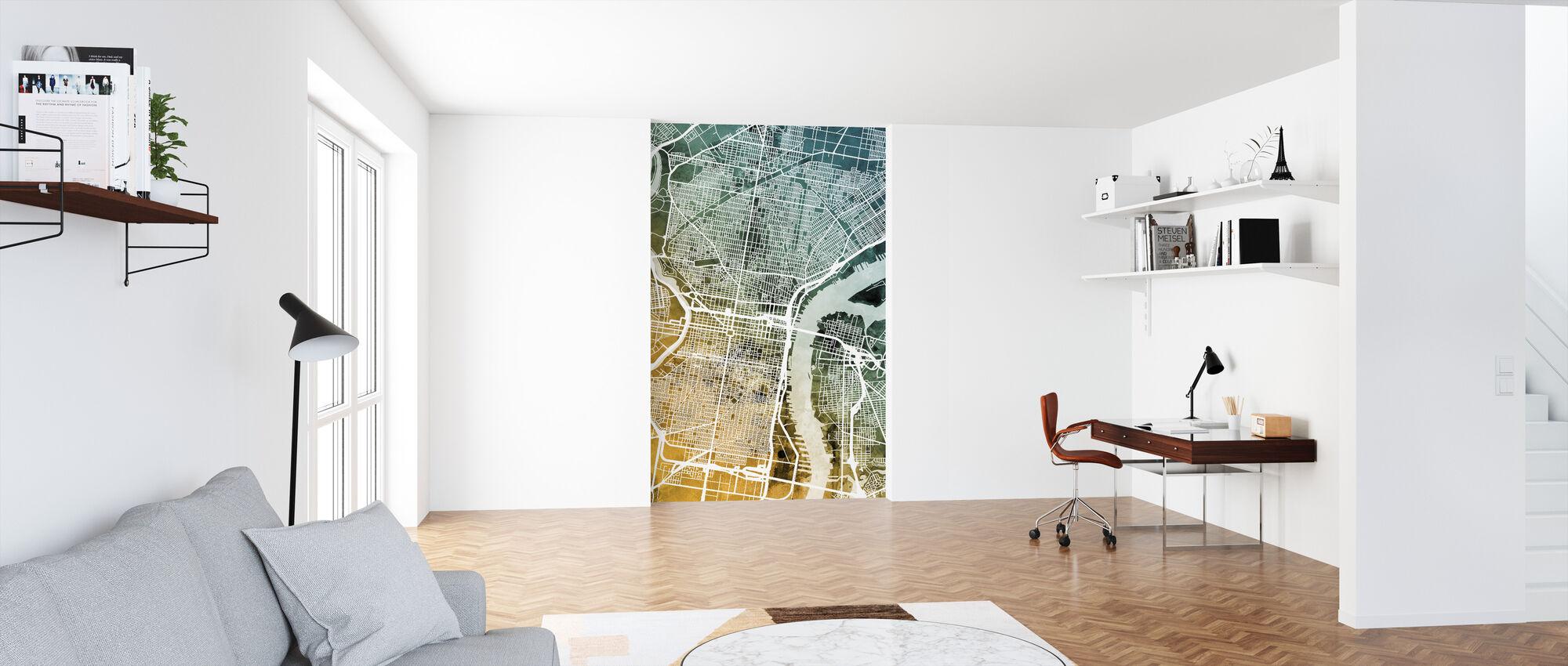 Philadelphia Pennsylvania Street Map - Wallpaper - Office