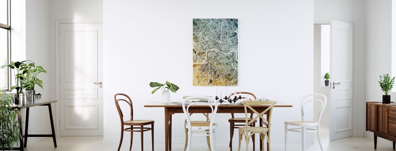 London England Street Map - Canvas print - Kitchen