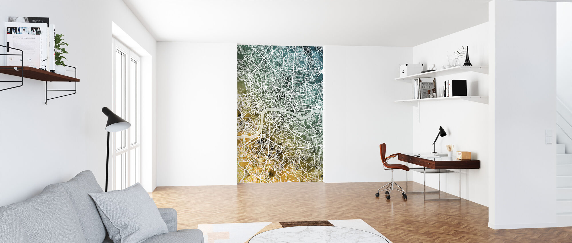 London England Street Map - Wallpaper - Office