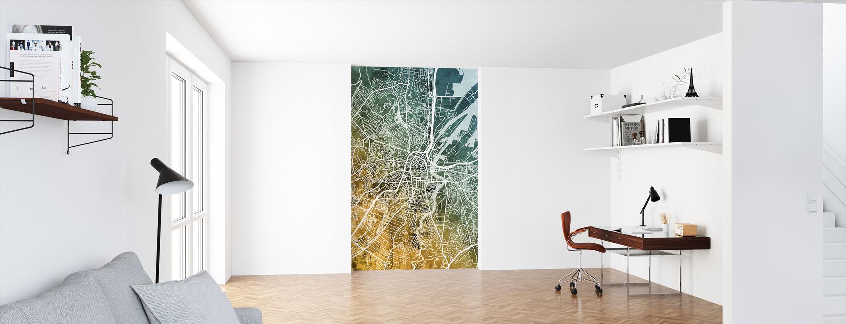 Belfast Northern Ireland City Map - Wallpaper - Office