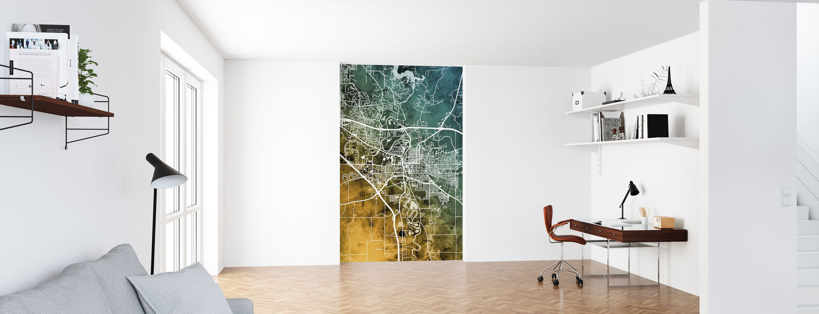 Iowa City Map - Wallpaper - Office