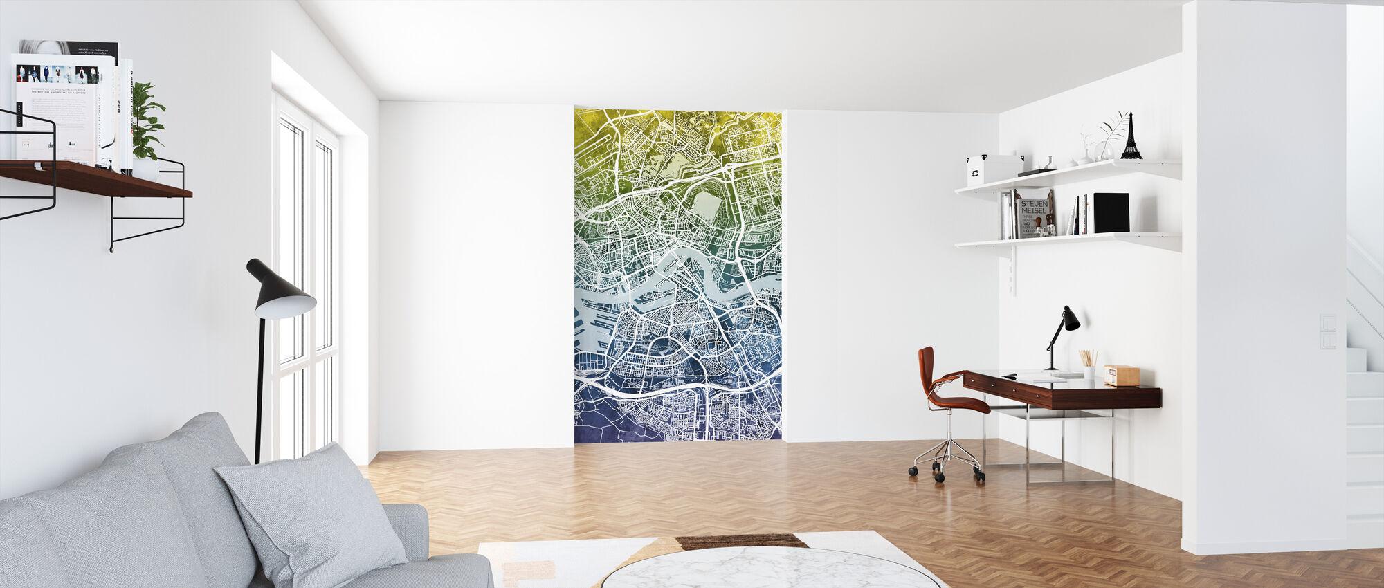 Rotterdam Netherlands City Map - Wallpaper - Office