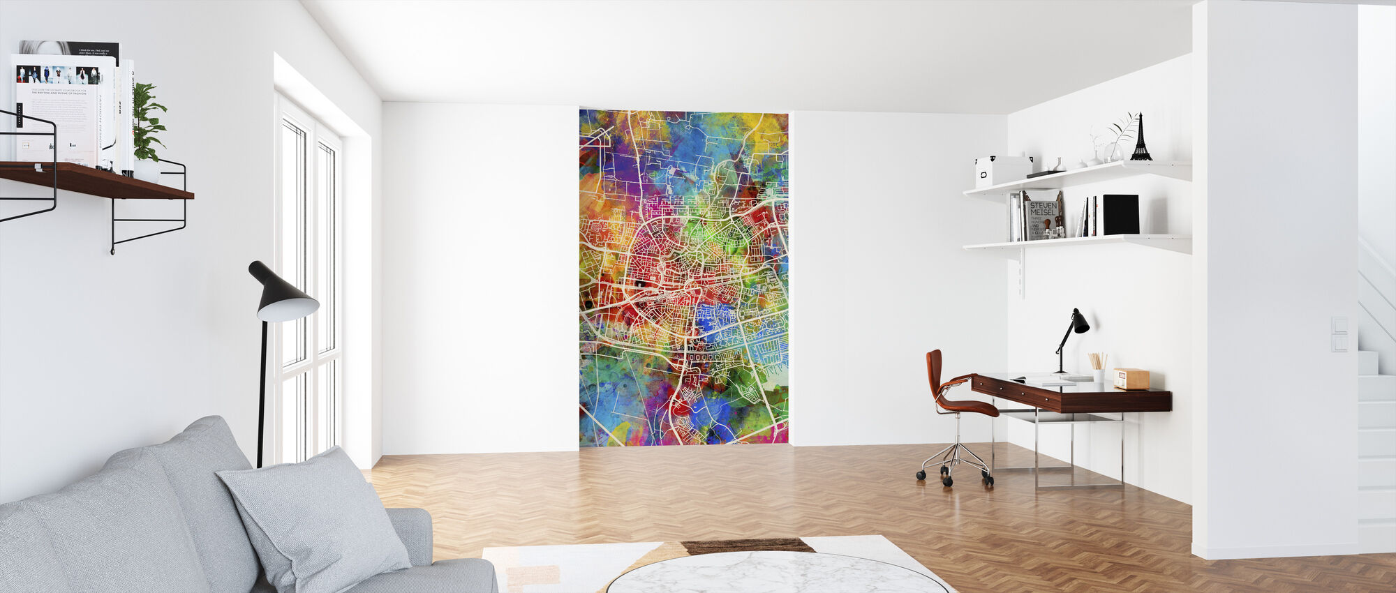 Leeuwarden Netherlands City Map - Wallpaper - Office
