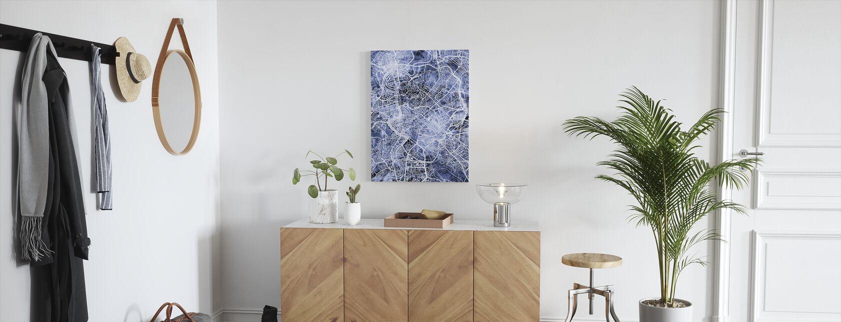 Rome Italy City Map - Canvas print - Hallway