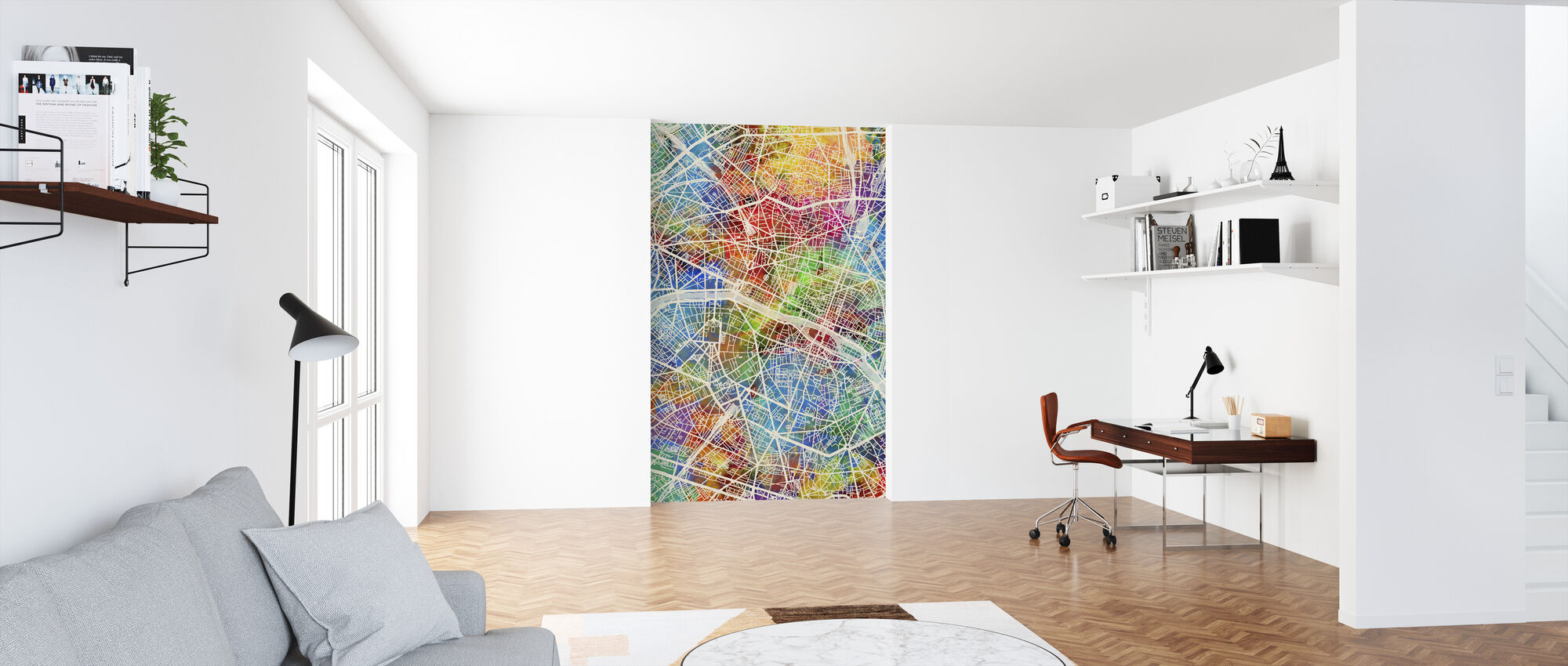 Paris France City Map - Wallpaper - Office