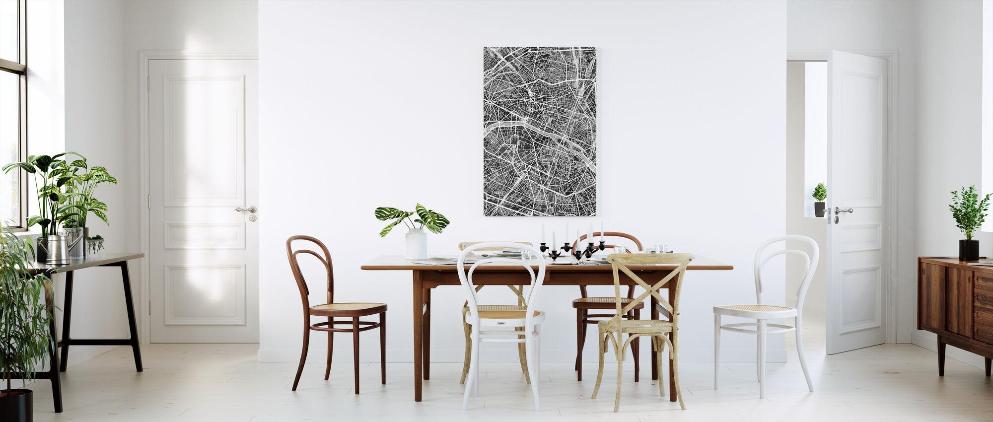 Paris Frankrike City Karta - Canvastavla - Kök