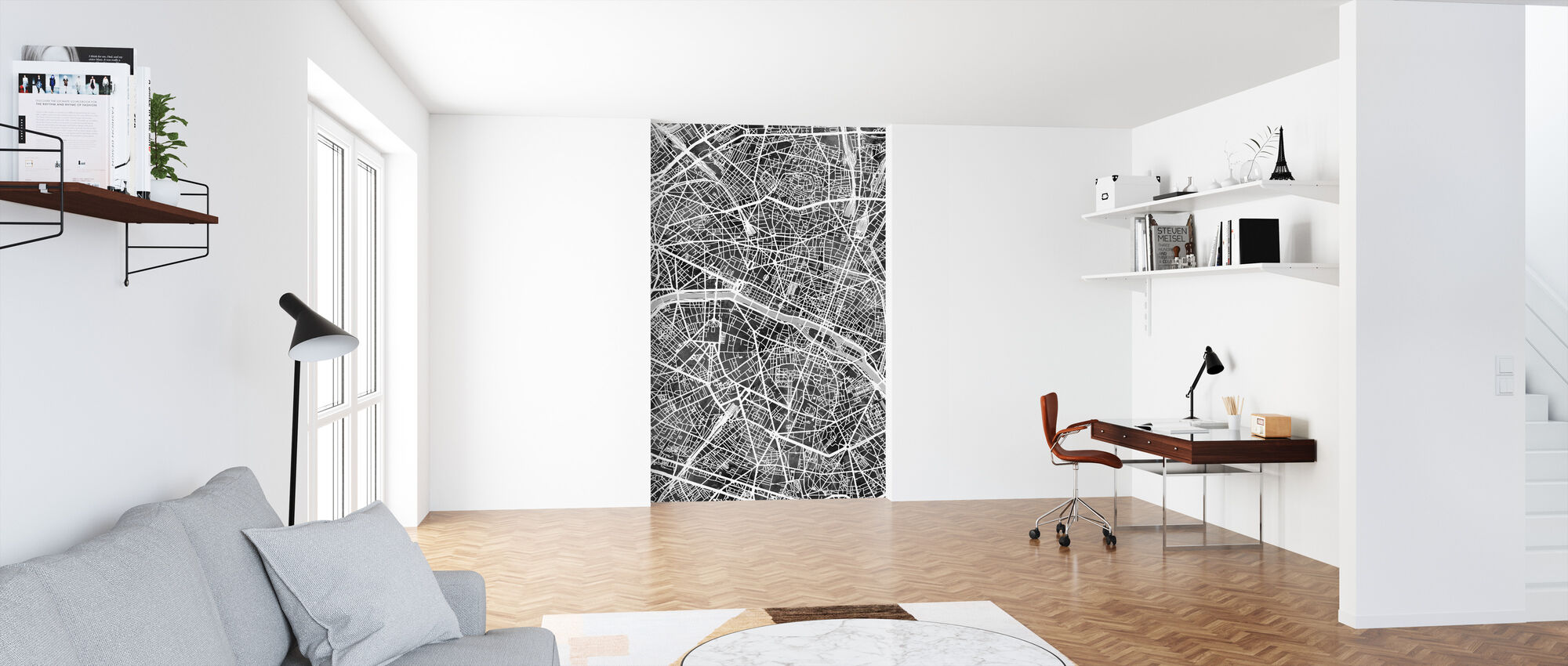 Paris France City Map - Wallpaper - Office